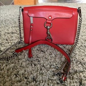 Red crossbody RebeccaMinkoff bag